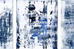 Blue Grey Triptychon I + II + III | Acryl | 50 x 60 cm | 2016