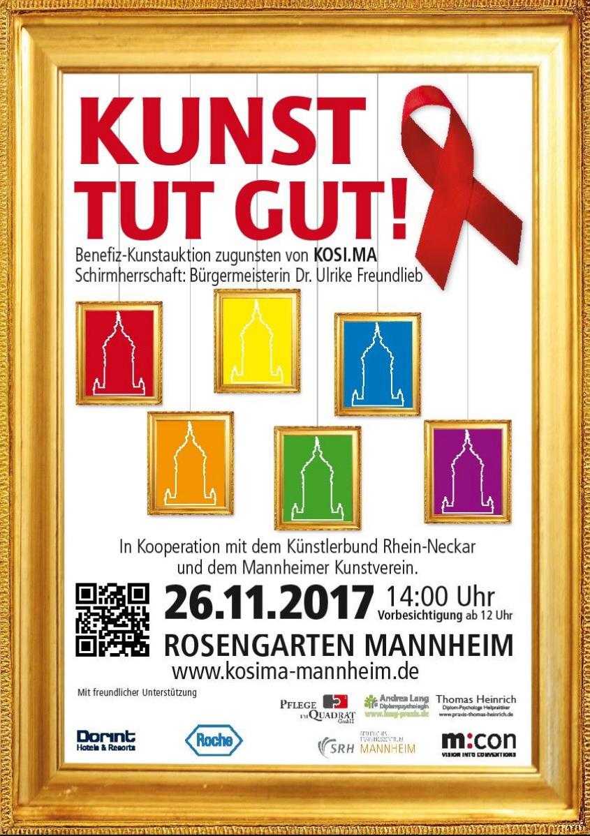 Plakat 'Kunst tut gut'